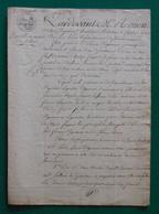 Manuscrit Daté De 1810 - Coubert - Choisy Le Roi - Solers - Soignolles En Brie - Manuscripts