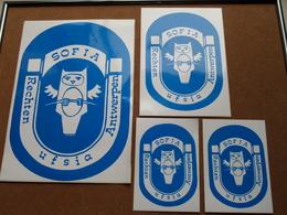 SOFIA - UFSIA Rechten ANTWERPEN > Pakketje Van 4 Stickers > Zie Beschrijving ( Zelfklever Sticker Autocollant ) ! - Autres Collections