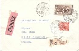 RACCOMANDATA ESPRESSO X ESTERO CON £200 ITALIA LAVORO - 6. 1946-.. Repubblica