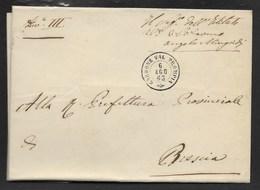 DA GARDONE VAL TROMPIA A BRESCIA - 6.8.1863. - Marcophilia