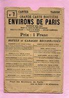 CARTE ROUTIERE A.TARIDE N°7 AUTOMOBILISTES & CYCLISTES ENVIRONS PARIS SECTION SUD EST PARIS IMPECCABLE - Cartes Routières