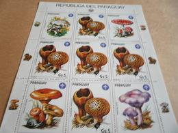 Sheetlet Paraguay 1984 Mushrooms - Paraguay