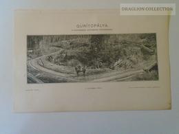 W516.16 Háromszék Kovászna Gurítópálya - Ca 125 Years Old Original Print - Pallas Lexikon Hugary Ca 1890 - Stampe & Incisioni