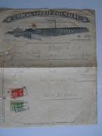 1938 Chocolaterie Goemaere Gand Gent Usine Facture Factuur Taxe 5,80 Fr - Food