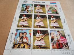 Sheetlet Paraguay Sc C585 1984 Happy Christmas - Paraguay