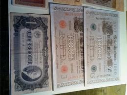 Lot De 10 Billets: 8 Allemagne,1 Russe,1 Italie - Alla Rinfusa - Banconote