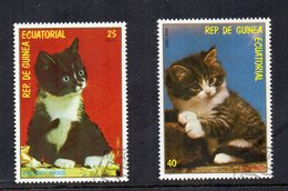 GUINEA EQUATORIALE - Lotto 2 Francobolli Tematica Animali - Gatti - Usati - (FDC15638) - Guinea Equatoriale