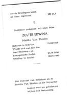 Zuster, Soeur,  Martha Van Thielen, Schoten, Duffel - Religión & Esoterismo