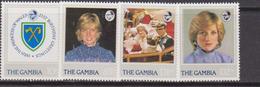 Gambia 1982 Diana  Set MNH - Gambia (1965-...)