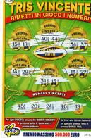 GRATTA E VINCI   - TRIS VINCENTE  DA € 5.00 - USATO -  (VARIANTE VERDE CHIARO) - Biglietti Della Lotteria