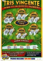 GRATTA E VINCI   - TRIS VINCENTE  DA € 5.00 - USATO -  (VARIANTE VERDE SCURO) - Biglietti Della Lotteria