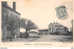 SANCOINS - La Gare Et Hôtel De La Gare - Très Bon état - Sancoins
