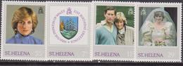 St. Helena 1982 Diana  Set MNH - Donne Celebri