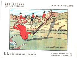 """Sp CC G L/  Buvards Les Sports """"Chasse A Courre""""   Galeries Lafayette (Format 18 X 14) (N= 1) - Sport"""