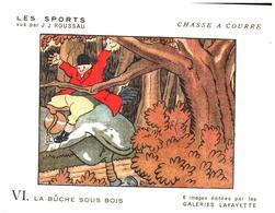 """Sp CC G L/  Buvards Les Sports """"Chasse A Courre""""   Galeries Lafayette (Format 18 X 14) (N= 2) - Sport"""