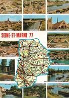 77 Carte Du Département De La Seine Et Marne (2 Scans) - France