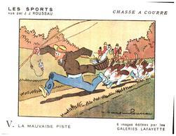 "Sp CC G L/  Buvards Les Sports ""Chasse A Courre""   Galeries Lafayette (Format 18 X 14) (N= 3) - Sports"