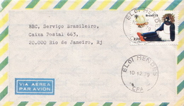 Postal History Cover: Brazil Stamp On Cover - Childhood & Youth