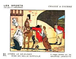 """Sp CC G L/  Buvards Les Sports """"Chasse A Courre""""   Galeries Lafayette (Format 18 X 14) (N= 6) - Sport"""