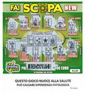 GRATTA E VINCI   - FAI SCOPA NEW DA €2.00 - USATO (SERIE STELLA NUOCE ALLA SALUTE) - Biglietti Della Lotteria