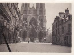 Photo Décembre 1917 REIMS Sous La Neige - La Cathédrale (A211, Ww1, Wk 1) - Reims