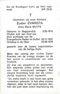 Zuster, Soeur, Maria Wuyts, Begijnendijk, Duffel - Religion & Esotérisme