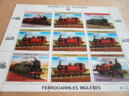 Sheetlet Paraguay 1984 Trains - Paraguay
