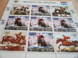 Sheetlet Paraguay Seoul Olympics 1988 - Paraguay