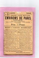 CARTE ROUTIERE A.TARIDE N°3 Environs De Paris Section NORD-EST  Pour Cyclistes Et Automobilistes - Cartes Routières