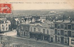94) NOGENT-SUR-MARNE : La Grande Rue - Panorama - Avenue De La République (1909) - Nogent Sur Marne