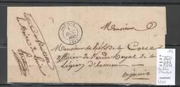 France - Lettre De SARTENE -LEVIE - Corse-  1846 - Franchise - Postmark Collection (Covers)
