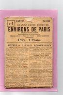 CARTE ROUTIERE A.TARIDE N°4 Environs De Paris Section NORD-OUEST  Pour Cyclistes Et Automobilistes - Cartes Routières