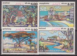 SOMALIA 1982 Paesaggi Somali Landscape Set MNH** - Somalia (1960-...)