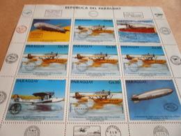 Sheetlet Paraguay 1984 Dorner Seaplanes Labels Overprinted Muestra. - Paraguay