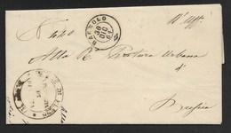 DA FLENO A BRESCIA - 30.12.1861. - Marcophilia