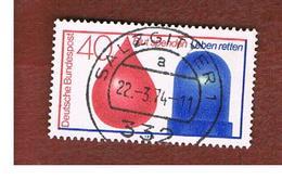 GERMANIA (GERMANY) - SG 1687   - 1974 BLOOD DONOR  -  USED° - [7] République Fédérale