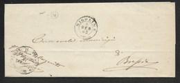 DA BORGONATO A BRESCIA - 8.1.1863. - Marcophilia