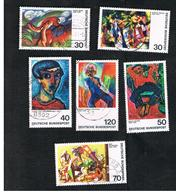 GERMANIA (GERMANY) - SG 1688.1693   - 1974  GERMAN EXPRESSIONIST PAINTINGS (COMPLET SET OF 6) -  USED° - Usati