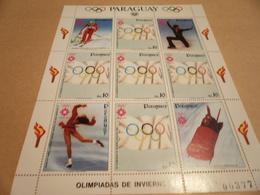 Sheetlet Paraguay 1984 Sarajevo Olympics - Paraguay