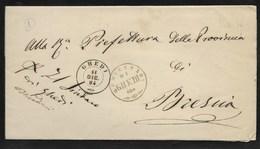 DA GHEDI A BRESCIA - 11.12.1864. - Marcophilia