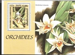 V) 1999 CAMBODGE, FLOWERS, ORCHIDS, DENDROBIUM DRACOINS, MNH - Cambodia