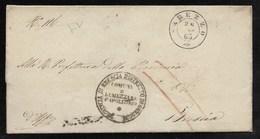 DA LUMEZZANE E S.APOLLONIO - 29.3.1863. - Marcophilia