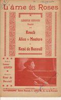 PARTITION N°127 L AME DES ROSES :RENE BUXEUIL : - Liederbücher