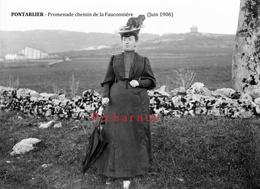 PONTARLIER - Promenade Chemin De Baumont. (juin 1906). Retirage D'une Photo. 2 Scan. - Pontarlier