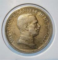 ITALY 2 LIRE 1914. SILVER. ARGENT. ITALIE - 1861-1946 : Kingdom
