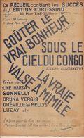PARTITION N°128 SOUS LE CIEL DU CONGO : LES VIOLETTES/ VOS JOLIES YEUX :lLES PANTINS /ALFRED - Liederbücher