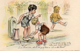 CPA Illustrateurs Germaine Bouret C'en Est Un On Lui Fiche Notre Pied Dans Le Blocus - Bouret, Germaine