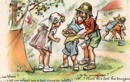 CPA Illustrateurs Germaine Bouret Un Blesse Soldat Qui A Fait Dans Sa Culotte - Bouret, Germaine