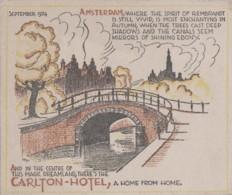 Hôtels - Publicité - Hotel In Holland - Carlton Hotel Amsterdam - September 1934 - Illustrateur - Hotels & Restaurants
