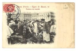 Carte Postale Ancienne Types De Russie 52 - Le Marché. - Russie